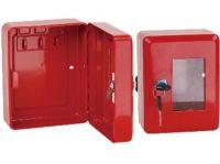 skříňka požární na klíč 150x120x80mm ČRV + kladívko
