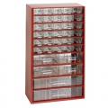 skříňka 3 velikosti 30m,4s,2v 6765  30,5x55cm kov.