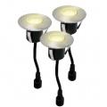 svítidlo LED zápustné pr.6cm,1,2W,IP67 (3ks) teplé,do dřeva,pochozí