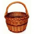košík nákupní kulatý BOLERO plné pr.29x34cm, lak., NOVÝ