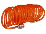 """hadice vzduchová spirálová s rychlospojkami, 1/4"""", ∅vnitřní 6mm, L 10m"""