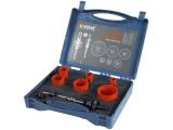 vrtáky korunkové, instalatérské, 6 průměrů O 19-57mm, HSS/Bi-metal