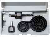 vrtáky vykružovací korunkové, 8 průměrů O 19-64mm
