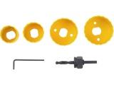 vrtáky vykružovací korunkové, 4 průměry ∅32-54mm, HSS/Bi-metal