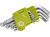 L-klíče IMBUS, sada 9ks, 1,5-10mm, krátké