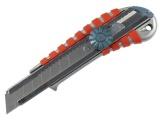 nůž ulamovací kovový s kovovou výztuhou a kolečkem, 18mm