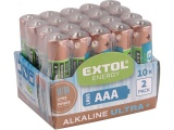 baterie alkalické, 20ks, 1,5V AAA (LR03)