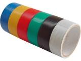 pásky izolační PVC, sada 6ks, 19mm x 18m, (3m x 6ks)