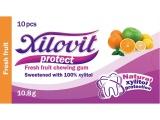 žvýkačky Xilovit protect ČERSTVÉ OVOCE 10,8g, 1blistr=10 žvýkaček
