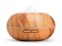 aroma difuzér Sumó, osvěžovač a zvlhčovač vzduchu, imitace světlého dřev, 300ml