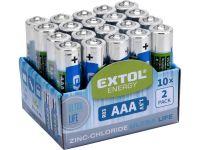 baterie zink-chloridové, 20ks, 1,5V AAA (R03)