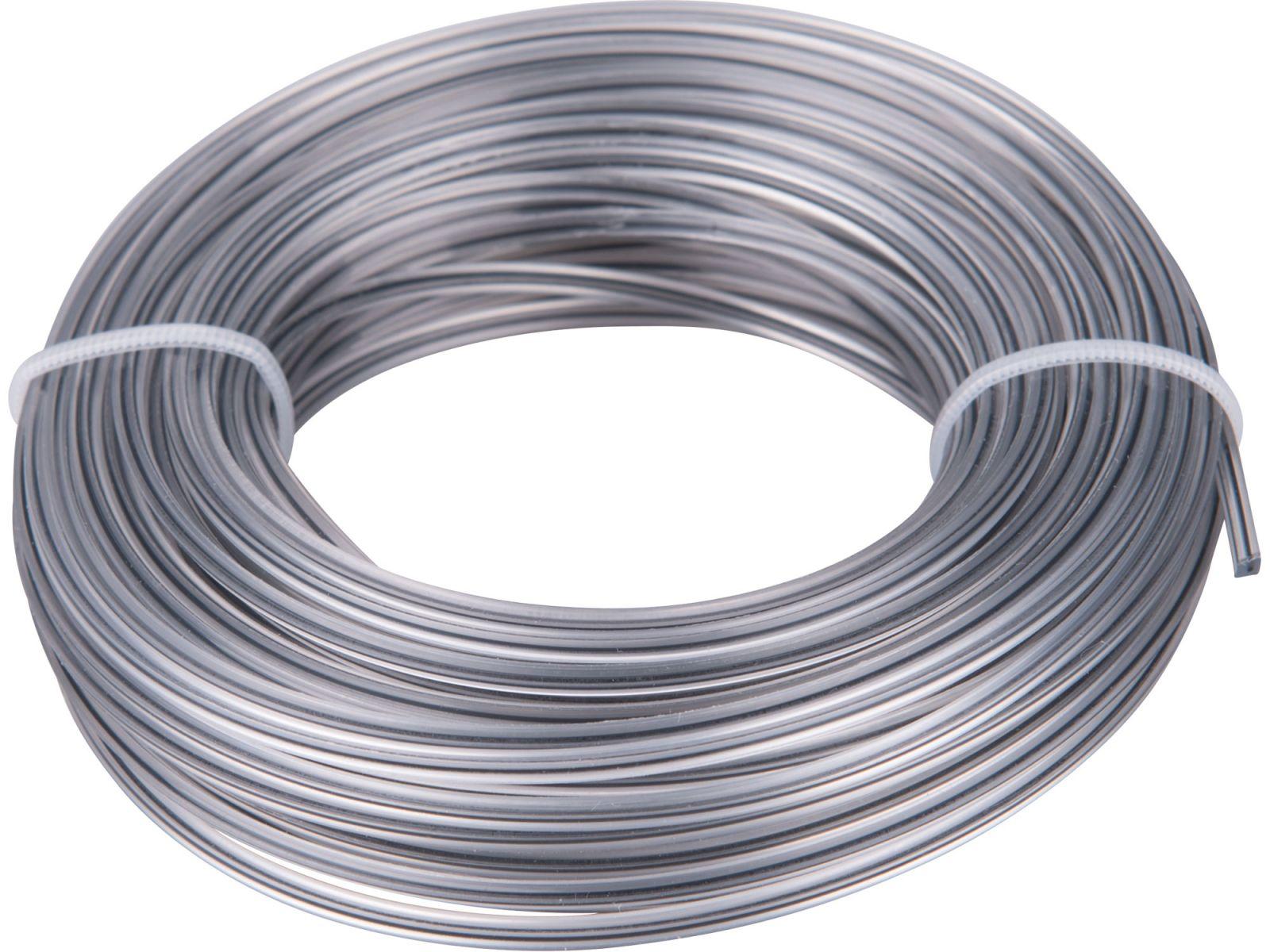 žací struna do sekačky s jádrem, čtvercový profil, 2,0mm, 15m, PA66