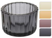 svícen sklo pr.5,5x3,7cm mix barev (4ks)