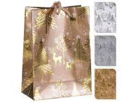 taška dárková 16x11,5x6cm (S) VÁNOČNÍ mix dekorů