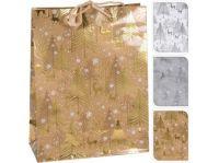 taška dárková 23x18x8cm (M) VÁNOČNÍ mix dekorů