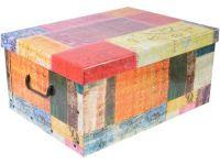 box úložný 51x37x24cm s víkem, karton mix dekorů