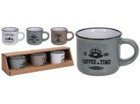 hrnek 100ml COFFEE keramický mix barev (3ks)