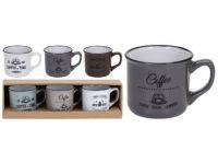 hrnek 180ml COFFEE keramický mix barev (3ks)