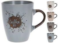 hrnek 320ml COFFEE keramický mix barev