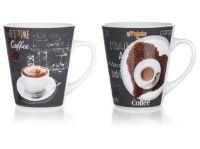hrnek 360ml COFFEE mix dekorů, keramický