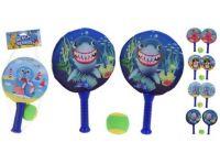 raketa+míček BEACH sada 3díl.(2xraketa+míček) mix dekorů