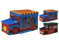 box úložný 55x26x31cm AUTO, karton/sedák MDF, mix dekorů