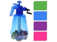 pumpička na vodní bomby 1,7l + balonky (100ks) mix barev