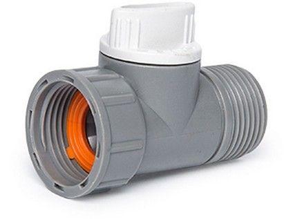 """adaptér s ventilem, vnitřní a vnější závit 3/4"""", WL-2232, WHITE LINE"""
