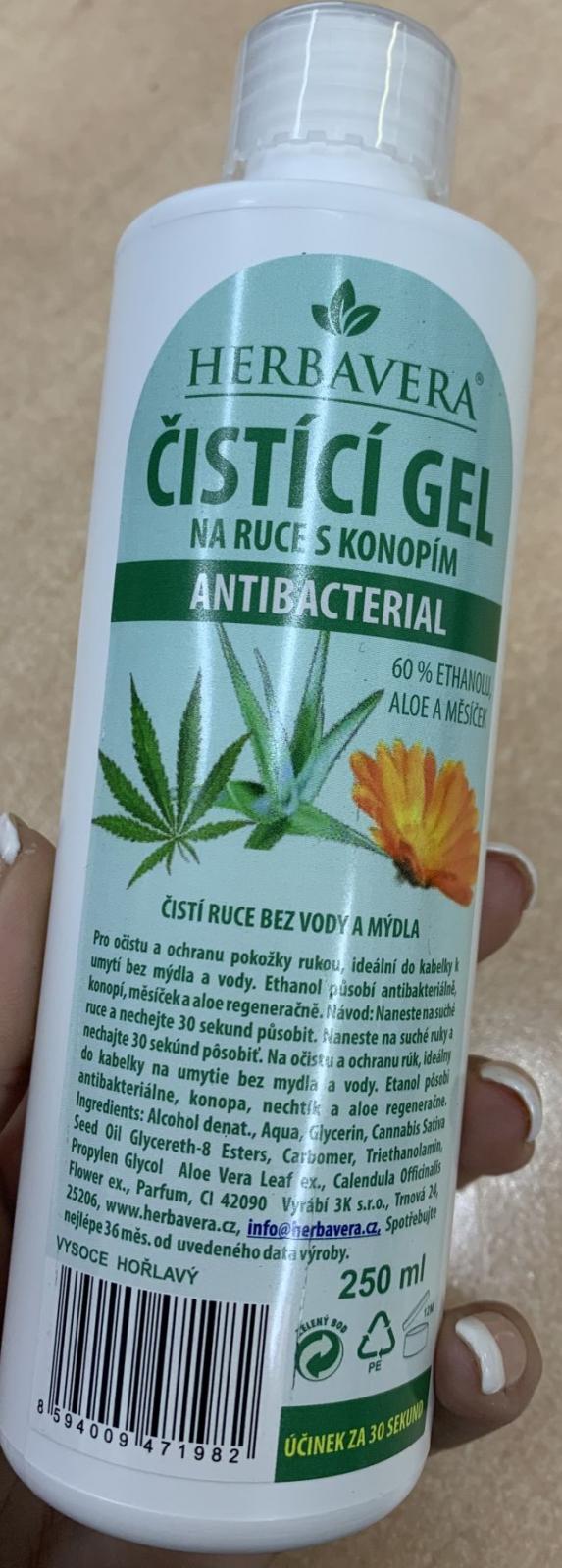 Antibakteriální gel na ruce o obsahu 250ml
