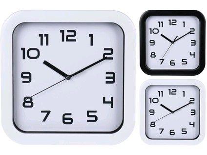 hodiny nástěnné 25x25cm PH BÍ,ČER mix