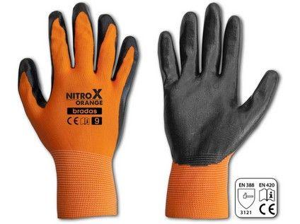 rukavice NITROX ORANGE nitril 11