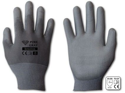 rukavice PURE GRAY PU 8