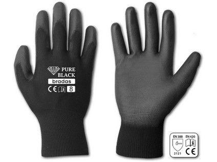 rukavice PURE BLACK PU 7