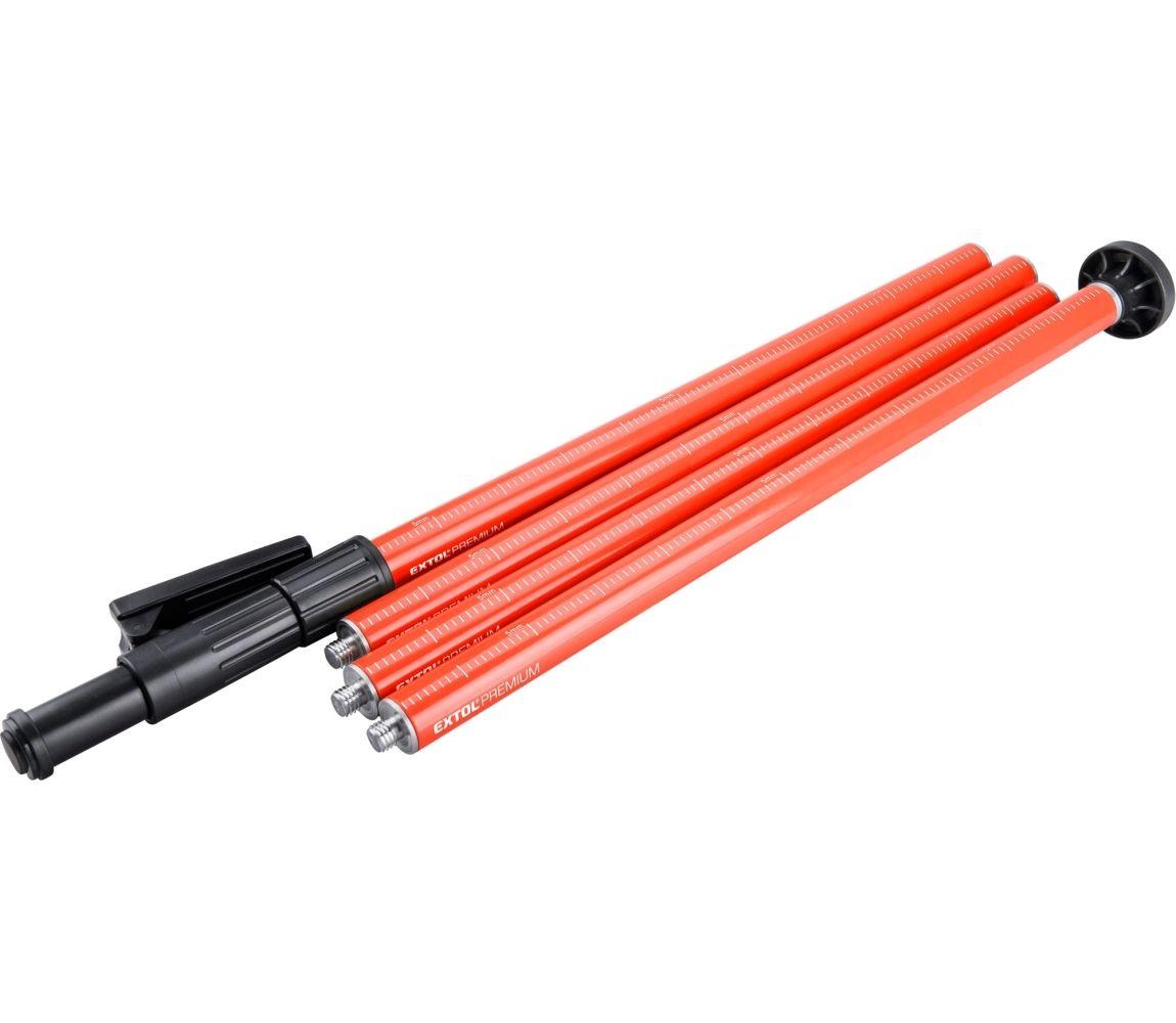 tyč-stativ k laserům, teleskopická/šroubovací, dosah až 3m, průměr 32mm