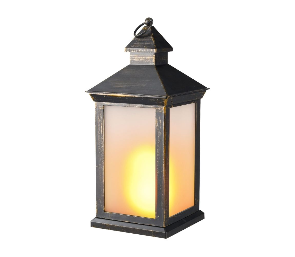 lucerna LED s plamenem