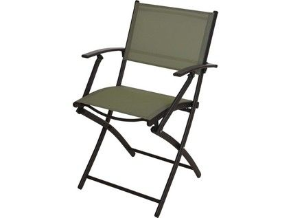 set zahradní stůl kov/sklo + 2 židle rozkl.kov/textil ANTR/ZE